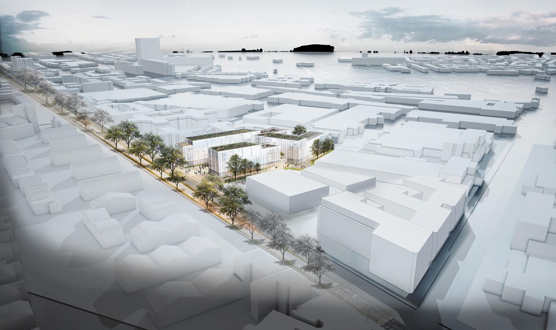 Neubau Bürogebäude Visualisierung