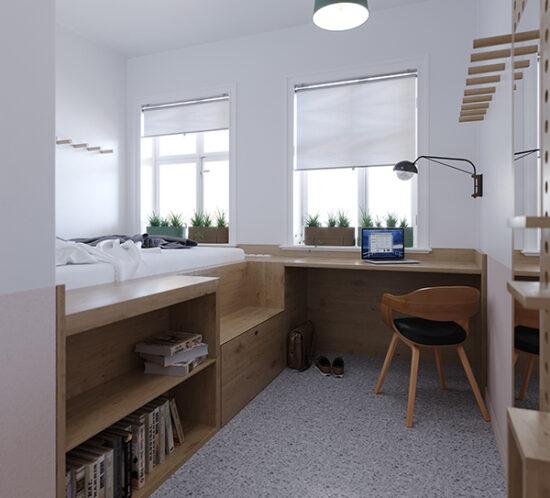 Hostel, Interiordesign, Innenarchitekt, Architekt, Bauen im Bestand, Umbau, Sanierung, Hotelzimmer, Hoteldesign