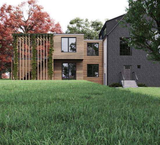 Architektur, Innenarchitektur, Bauen im Bestand, Sanierung, Anbau, Mehrfamilienhaus, Generationenwohnen